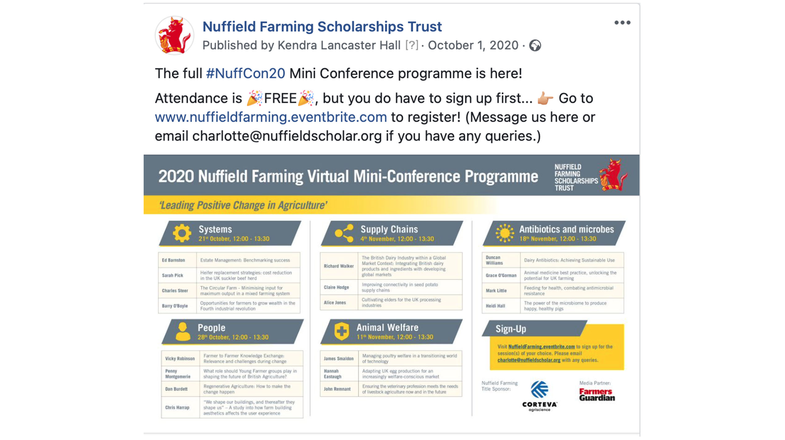 An image of the Nuffield website